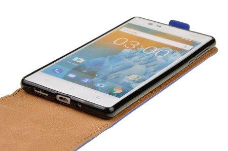 ETUI KABURA FLEXI do Nokia 3 / Nokia 3 Dual Sim niebieski