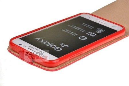 ETUI KABURA FLEXI do Samsung Galaxy J5 J500 czerwony