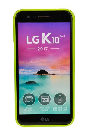 ETUI NAKŁADKA MERCURY GOOSPERY JELLY CASE do LG K10 2017 limonka