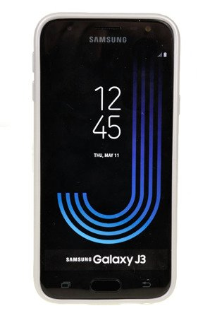 ETUI NAKŁADKA MERCURY GOOSPERY iJELLY CASE do SAMSUNG GALAXY J3 2017 J330 srebrny