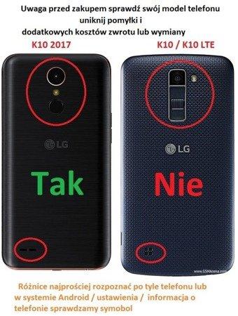 ETUI SMART do LG K10 2017 złoty
