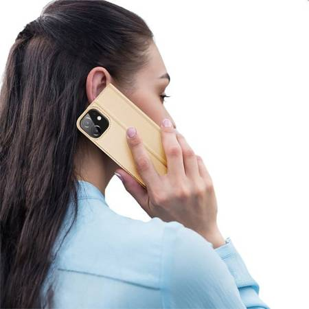 Etui Dux do Apple Apple iPhone 12 Mini złoty smukły portfel