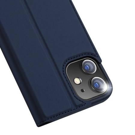 Etui Dux do Apple iPhone 12/ 12 Pro złoty smukły portfel niebieski