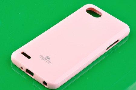 Etui Mercury Goosper Jelly Case do LG Q6 pudrowy róż