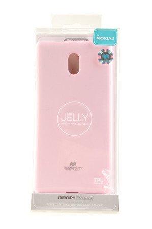 Etui Mercury Goosper Jelly Case do Nokia 3 pudrowy róż