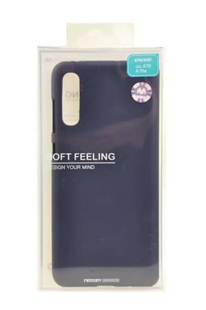 Etui Mercury Goospery Soft Feeling do Samsung Galaxy A70 granatowy
