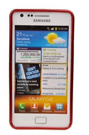 Etui Nakładka Mercury Goospery Jelly Case do SAMAUNG Galaxy S2 / S2 Plus czerwony