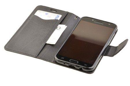 Etui Portfel Fancy Case + Szkło do SAMSUNG Galaxy J3 2017 J330 czarny