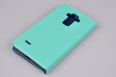 Etui Portfel Fancy Case do LG G4 Stylus H635 miętowy
