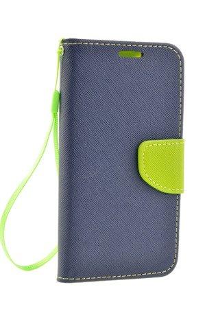 Etui Portfel Fancy Case do SAMSUNG GALAXY S5 G900 / S5 NEO G903 niebieski