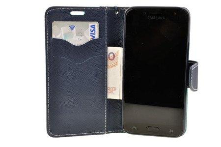 Etui Portfel Fancy Case do SAMSUNG Galaxy J3 2017 J330 miętowy