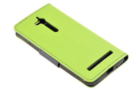 Etui portfel Fancy Case do ASUS ZENFONE GO ZB500KG limonka