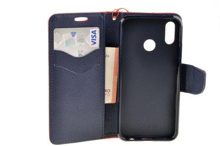 Etui portfel Fancy Case do HUAWEI P20 Lite czerwony