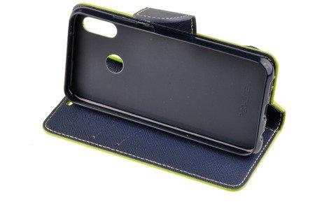Etui portfel Fancy Case do HUAWEI P20 Lite limonkowy