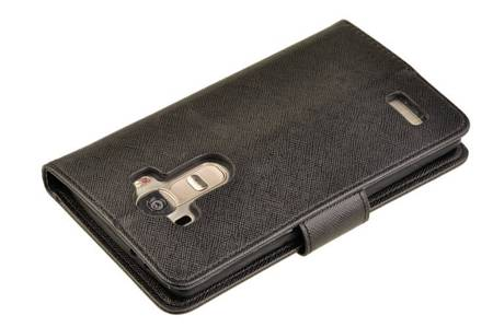Etui portfel Fancy Case do LG G4 czarny