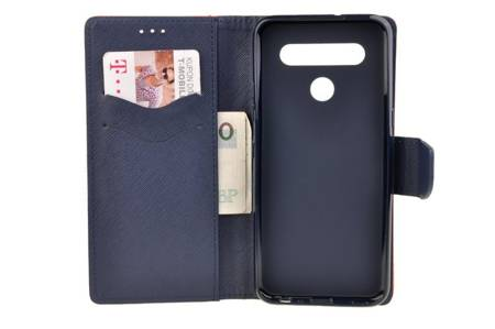 Etui portfel Fancy Case do LG K41s / K51s czerwony