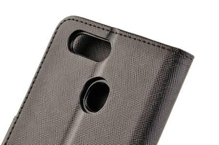 Etui portfel Fancy Case do Oppo A12 czarny