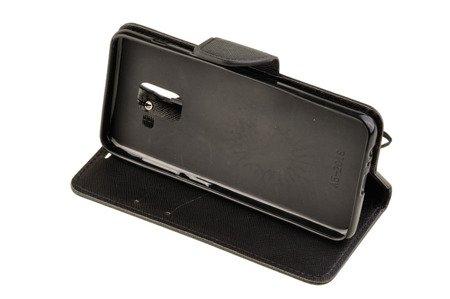Etui portfel Fancy Case do SAMSUNG GALAXY A8 2018 A530 czarny