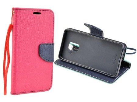 Etui portfel Fancy Case do SAMSUNG GALAXY A8 2018 A530 różowy