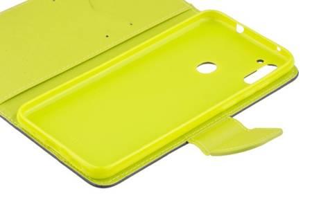 Etui portfel Fancy Case do Samsung Galaxy M11 / A11 niebieski