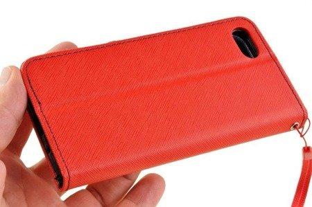 Etui portfel Fancy książeczka Case Oppo A1k CPH1923 czerwony