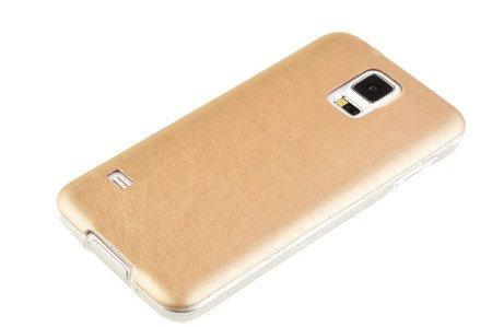 Etui silikonowe Skin do SAMSUNG GALAXY S5 / S5 Neo złoty