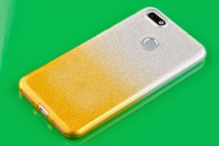 Etui silikonowe brokatowe Shine do HUAWEI P9 Lite Mini złoty