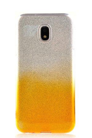 Etui silikonowe brokatowe Shine do SAMSUNG J5 2017 J530 złoty