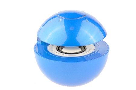 Głośnik Bezprzewodowy Bluetooth Led MP3 microSD AUX niebieski