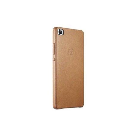 Oryginalne Skórzane Etui Leather Hard Case Nakładka do HUAWEI P8 brąz