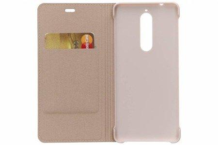 Oryginalne etui Flip Cover do Nokia 5.1 beżowy