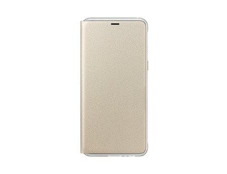 Oryginalne etui Neon Flip Cover do SAMSUNG GALAXY A8 2018 A530 złoty