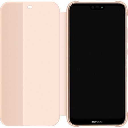 Oryginalne etui Smart View Flip Cover do HUAWEI P20 Lite różowy