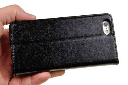 SKÓRZANE ETUI BOOK COVER do APPLE iPhone 6 / 6S czarny