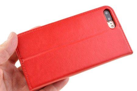 SKÓRZANE ETUI BOOK COVER do APPLE iPhone 7 Plus / iPhone 8 Plus czerwony