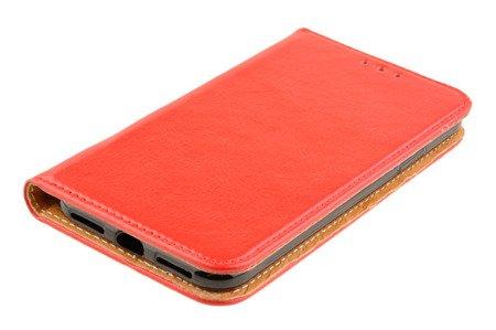 Skórzane etui Book Cover do APPLE iPhone X / XS czerwony