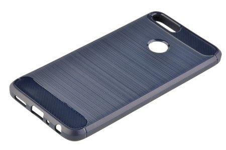 Wytrzymałe etui Back Case Carbon do HUAWEI P Smart niebieski